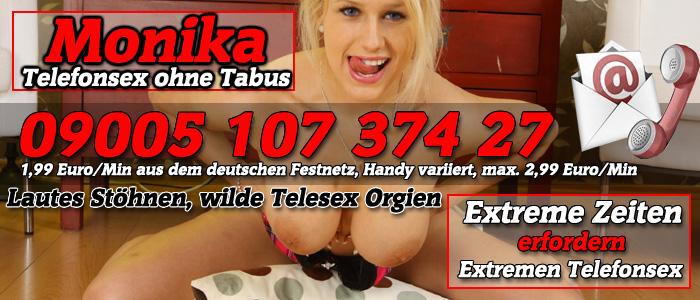 16 Telefonsex ohne Tabus - Monika stöhnt extrem laut in den Hörer